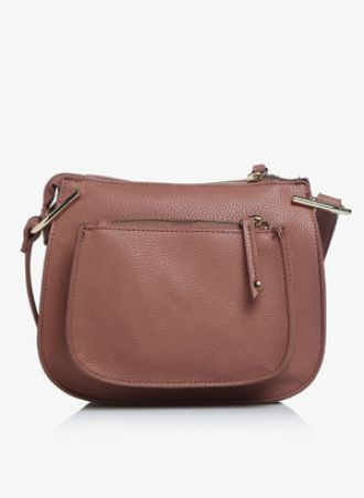 Get 50% off on Dorothy Perkins Brown Mini Saddle Crossbody Bag