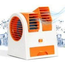 Get 57% off on GadgetMore Mini Fan & Portable Dual Bladeless Small Air Conditioner Water Air Cooler Powered by USB & Battery Use of Car/Home/Office