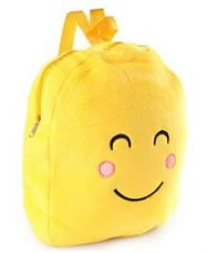 Soft Toy Bag Smiley Design Yellow - 12 inches for Rs. 189