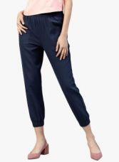 Jaipur Kurti Navy Blue Solid Coloured Pants for Rs. 539