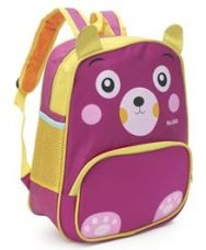 Get 20% off on School Bag Doggy Design Pink & Yellow - 13 inches