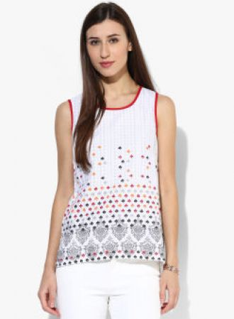 AURELIA Off White Printed Kurti for Rs. 239