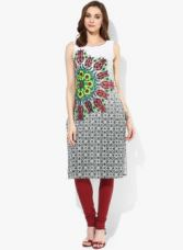 AURELIA Green Printed Kurta for Rs. 404