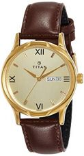 Buy Titan Karishma Analog Champagne Dial Men's Watch -NK1580YL05 from Amazon