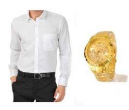 Flat 69% off on White Stylish Shirt