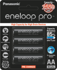 Buy Panasonic Eneloop Pro BK-3HCCE/4BN 4 x AA 2550mAh Ni-MH from SnapDeal