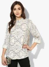 W Off White Printed Shirt for Rs. 749