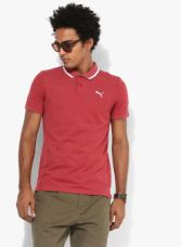 Buy Puma ESS Pique Sports Red Polo T-shirt for Rs. 749