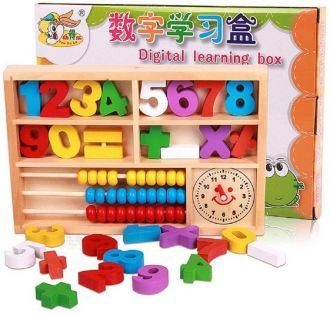 Buy Emob Digital Mathematics Learning Toy with Wooden Numbers-Abacus-Numerical Symbols(Multicolor) from flipkart