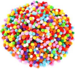 Flat 46% off on Unobite Multicolor Pom Pom Balls 0.5cm (2000 Piece)