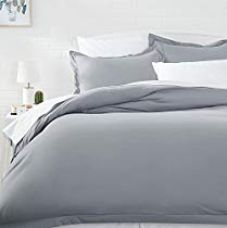 AmazonBasics Microfiber Duvet Cover Set - Twin/Twin XL, Dark Grey for Rs. 699