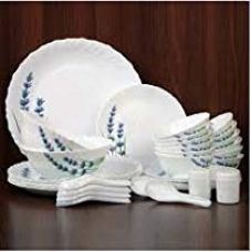 LaOpala English Lavender Dinner Set of 23 for Rs. 1,790