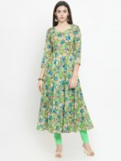 Buy Printed A-Line Kurta from Myntra