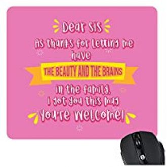 Buy YaYa CafeTM Bhaidooj Birthday Gift For Sister Mousepad Beauty Brains Printed From