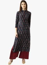 Get 65% off on Libas Multicoloured Printed Palazzo Kurta Set