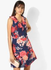 Buy DOROTHY PERKINS Navy Blue Coloured Printed Shift Dress for Rs. 1705