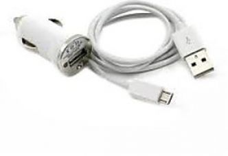 Buy Combo of Car Charger + Charging cum Data Cable (Assorted colors) from ShopClues