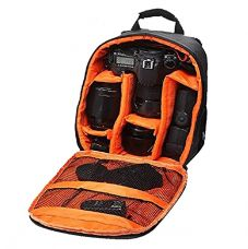 Buy Brain Freezer DSLR/SLR Camera Lens Shoulder Backpack Case For Canon Nikon Sigma Olympus Camera (Orange) from amazon