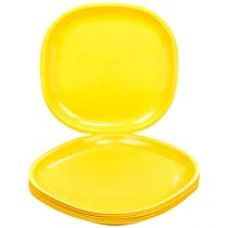 Signoraware Square Plastic Half Plate Set, Set of 6, Lemon Yellow for Rs. 340
