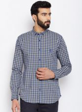 Park Avenue Blue & Yellow Regular Fit Checked Casual Shirt for Rs. 1149