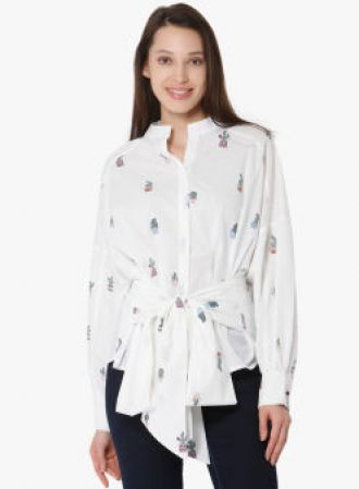 Get 50% off on Vero Moda White Printed Shirt