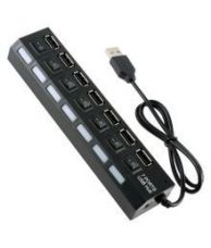 Flat 67% off on FineArts 7 Ports USB 2.0 Hub High Speed ON OFF Sharing Switch for PC Laptop