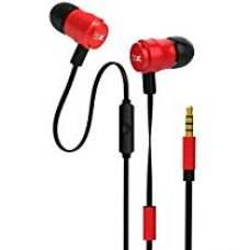 Buy boAt Bassheads 235 V2 in-Ear Super Extra Bass Earphones with Mic (Furious Red) from Amazon