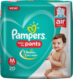Pampers Pants Diapers New - M(20 Pieces)