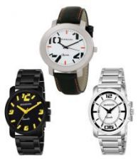 Grandson Attractive Set of 3 Watches Combo for boys for Rs. 479