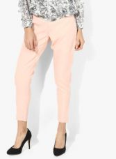 Vero Moda Peach Textured Regular Fit Chinos for Rs. 1014