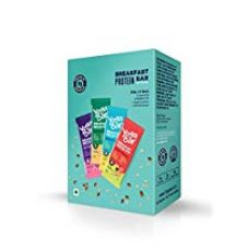 Buy Yogabar Breakfast Protein Variety (Almond Coconut, Apricot & Fig, Blueberry, Apple Cinnamon Bars - 300gm, 6 x 50 g (Box of 6 bars) from Amazon