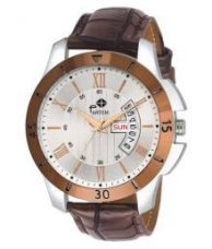 Partem PA107M Leather Analog Men's Watch for Rs. 399