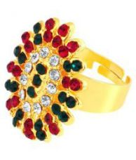 Buy ShoStopper Floral Designer Gold Plated Ring  SJ8007R from SnapDeal