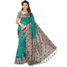 Buy Printed Saree With Blouse for Rs. 549