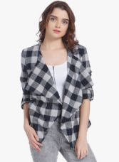 Buy Vero Moda Grey Checked Shrug for Rs. 1159
