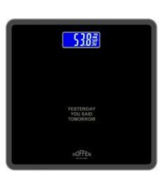 Hoffen Digital Electronic LCD Personal Health Body Fitness Bathroom Weighing Scale HO-18 Black Black for Rs. 999