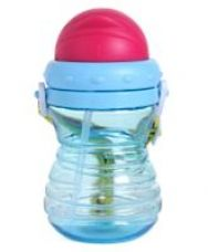 Buy Water Bottle with Straw & Strap Blue - 350 ml from FirstCry