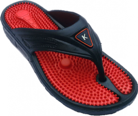 Buy Kizashi Mens Red,Black Open Flip Flops from ShopClues