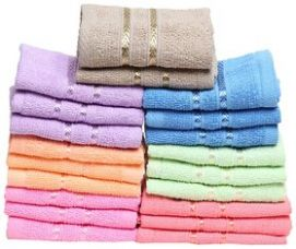 Buy Stonic Cotton Multicolor Face Towels - Pack Of 6 from ShopClues