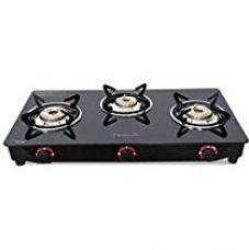 Flat 46% off on Butterfly Smart Glass 3 Burner Gas Stove, Black