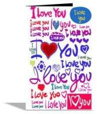 Flat 72% off on I Love You   Greeting Card