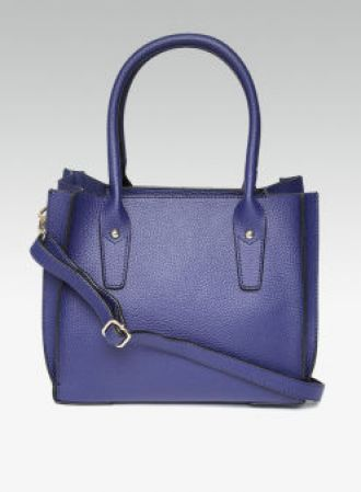 Buy DOROTHY PERKINS Blue Solid Handheld Bag With Sling Strap from Jabong