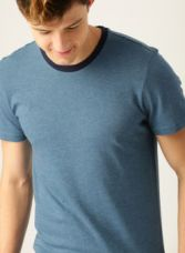 Buy United Colors of Benetton Blue Solid Round Neck T-shirt for Rs. 337