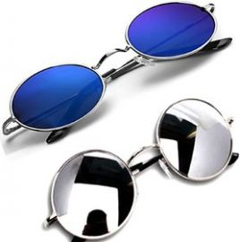 Get 50% off on Combo-2 Round Mirrored Sunglasses