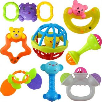 Buy Wishkey Set of 8 Pcs with Various Exciting Toys for New Borns & Infants Rattle Rattle from Flipkart