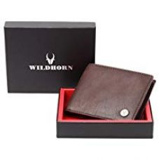 Flat 80% off on WildHorn Brown Men's Wallet (WH2052 Crackle)
