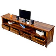 Get 45% off on Daintree Sheesham Wood 196 Meter Dolly 4 Draw TV Unit Cabin