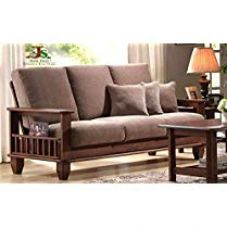 Get 33% off on JS Home Decor Solid Sheesham Wood Wooden Sofa Set Furinftur