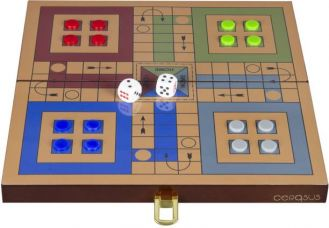 Buy Cerasus Foldable Wooden Ludo High Gloss Finish Board Ga from Flipkart