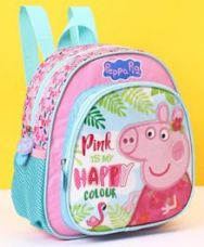 Buy Peppa Pig School Bag Pink Blue - Height 10 Inches for Rs. 449